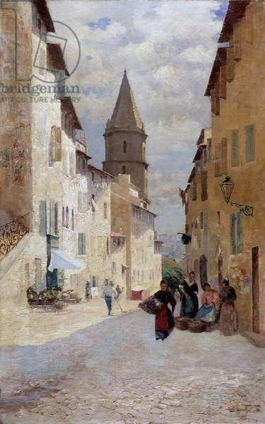 La Montee des Aroules in Marseille Painting by Henri de Cugis (20th century) Mandatory mention: Collection fondation regards de Provence, Marseille