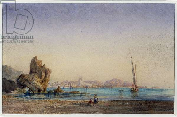 Marseille from the Madrague. Watercolour by Berthe Rozan (19th century) 1865 Mandatory mention: Collection fondation regards de Provence, Marseille