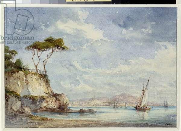 La baie de Marseille Watercolour by Berthe Rozand (19th century) 1864 Mandatory mention: Collection fondation regards de Provence, Marseille