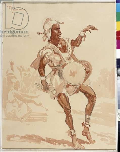 African musician (watercolor)