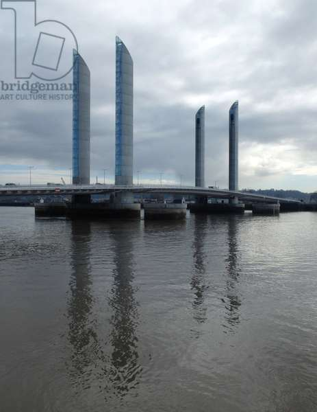 Bordeaux, Gironde 33000. Jacques Chaban Delmas Bridge, built in 2013. Architects Christophe Chéron and Charles Lavigne - 77 m high and 443 m long