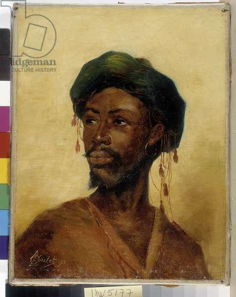 Portrait of Arabe by A.L. Coulet. 1893. Oil on canvas. Mandatory mention: Collection fondation regards de Provence. Marseille.