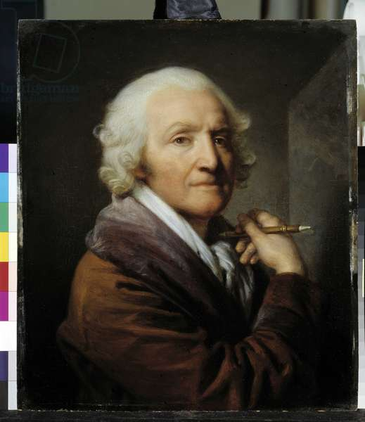 Self-portrait age, 18th century (oil on wood)