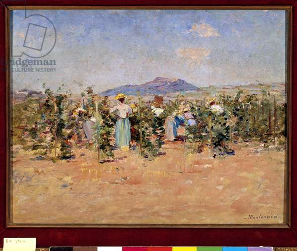 The Harvesters Painting by Frederic Montenard (1849-1926) 1880 Mandatory mention: Collection foundation regards of Provence, Marseille