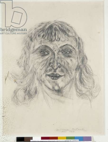 Portrait of Mania Oifer - May 1947 (dessin)