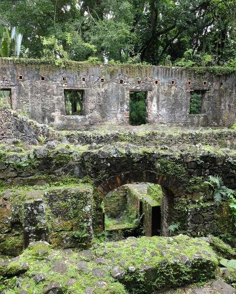 Trois Ilets, Domaine de la Pagerie, birthplace of Marie Joseph-Rose Tascher de la Pagerie, future Josephine de Beauharnais, wife of Napoleon Bonaparte. Ruins of the sugar factory - Martinique, island of the French Antilles