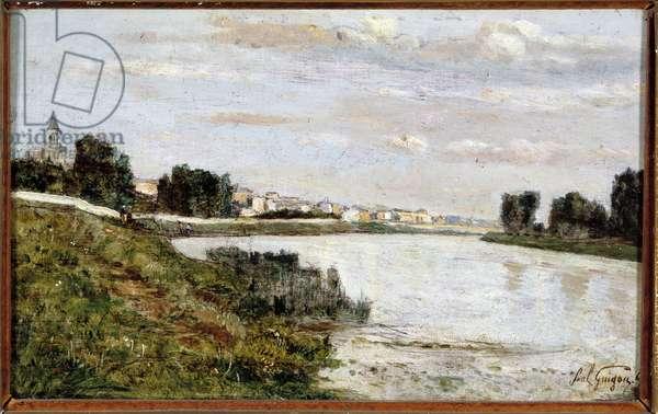 View of Triel (Triel sur Seine), 1865 (oil on canvas)