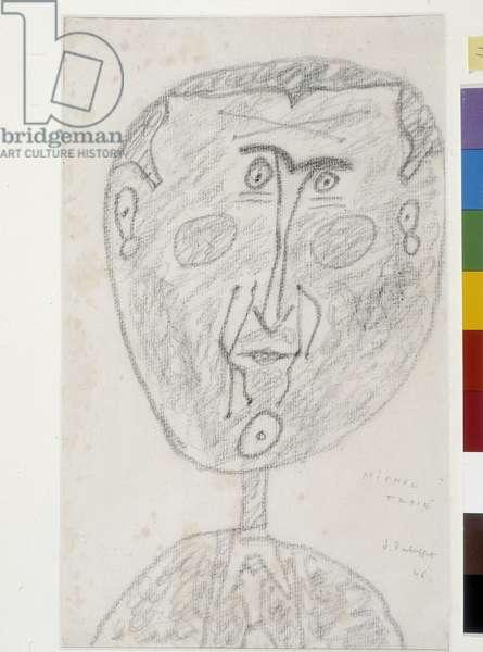 Portrait of Michel Tapié (1909-1987), art critic, 1946 (charcoal on paper)