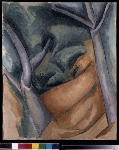 Arbres a l'Estaque, 1908 (oil on canvas)