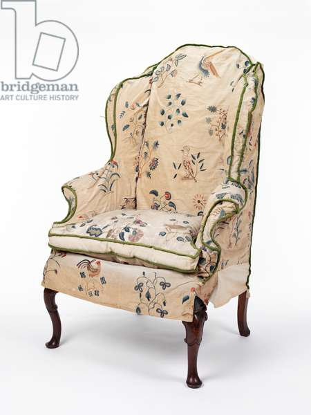 Armchair, with cover, c.1720 (walnut & textile)