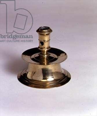 Tudor capstan candlestick, English, C.1630 (brass)