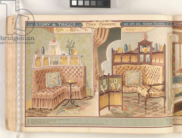Page from 'Useful Artistic Furniture', c.1900 (colour litho)