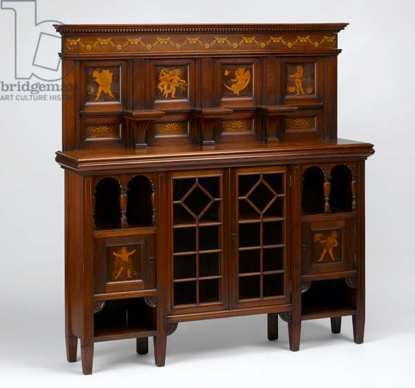 Sideboard, c.1880 (walnut) (see also 3084386)