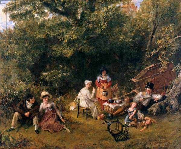 Londoners Gypsying, 1820 (oil on canvas)