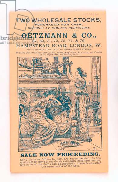 Front cover from a Oetzmann & Co. catalogue, c.1885-90 (print)
