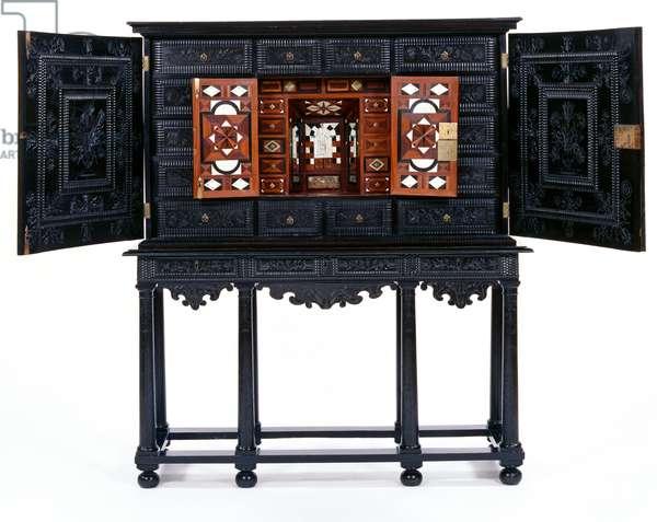 Cabinet on stand, 1652 (ebony, fruitwood & ivory)