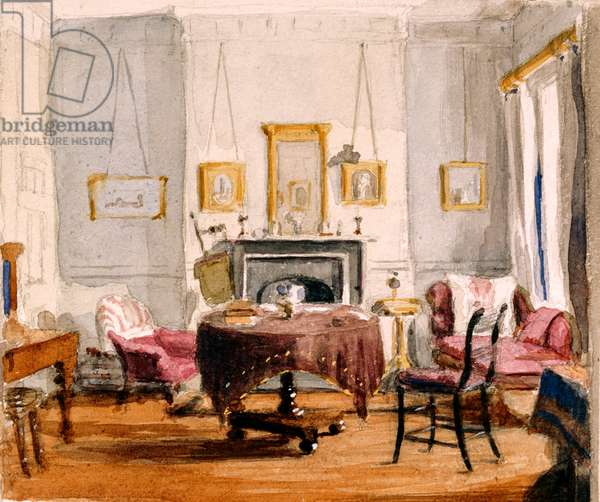 The Drawing Room at 59 Seymour Street, c.1850 (w/c on paper)