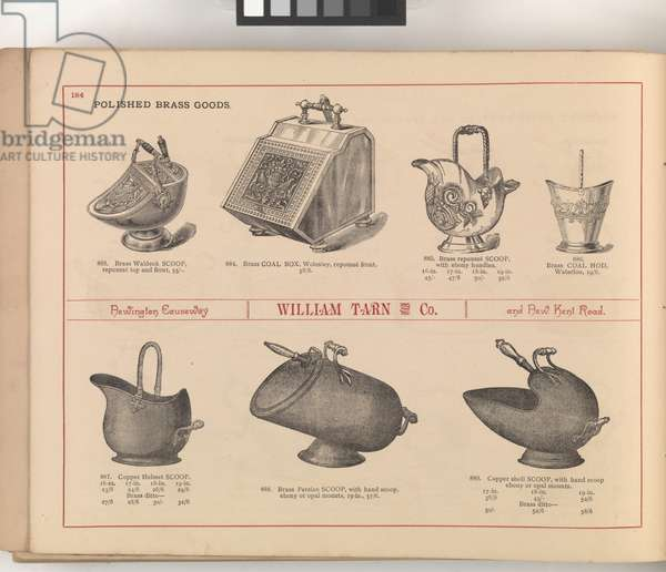 Page from 'William Tarn and Co.'s Illustrated Catalogue: with prices of furniture, bedding, &c', c.1890-1900 (colour litho)