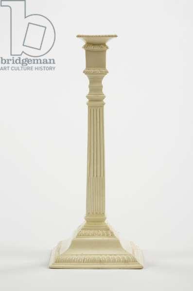 Candlestick, c.1785 (creamware)