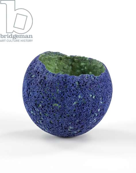 Vase, 1998 (crushed recycled glass mixed with ceramic oxides and wallpaper paste)