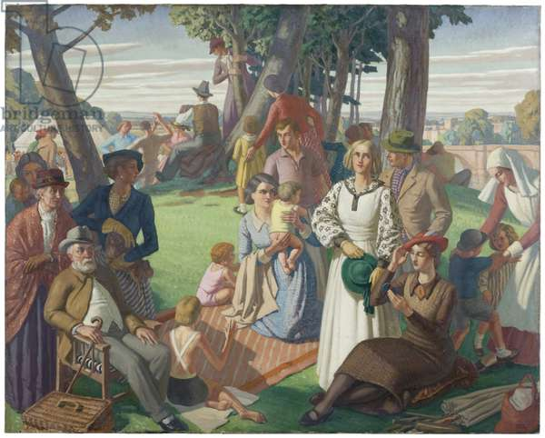 Holiday, 1935 (oil on canvas)