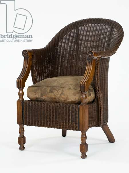 Lloyd Loom armchair, 1926-28 (wood)