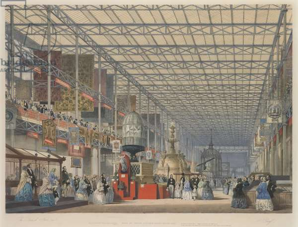The Opening of the Great Exhibition - The British Nave, 1851 (chromolitho)