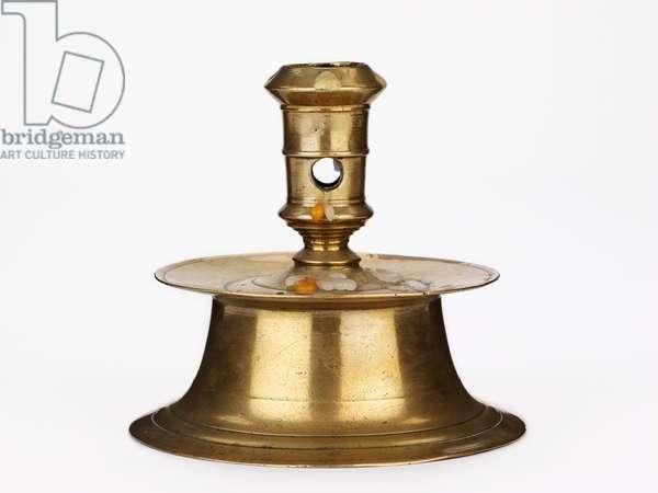 Capstan Candlestick, c.1600 (brass)