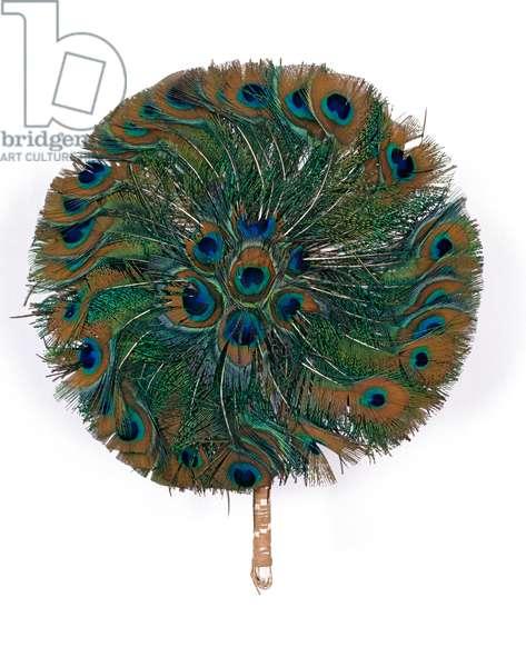 Fan, 1880-1900 (peacock feathers)