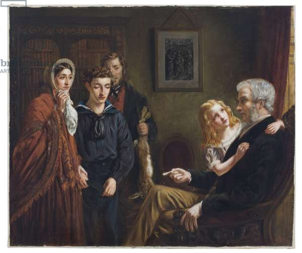The Lion and the Mouse: 'Sweet Mercy is Nobility's True Revenge', or The Plea, 1865 (oil on canvas)