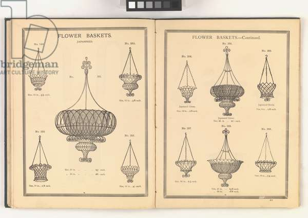 Page from 'Illustrated Catalogue of Wire Goods', 1887 (litho)