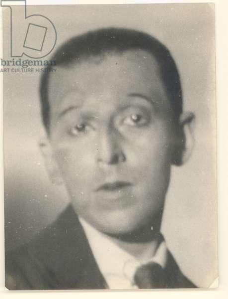 Self portrait, 1929 (b/w photo)