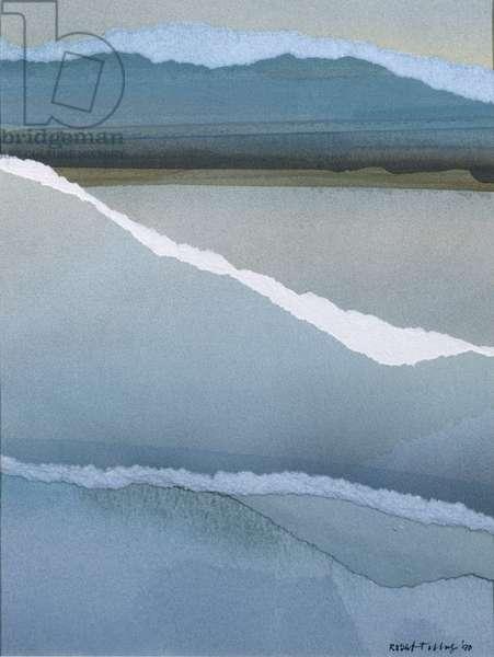 Distant Headland, 1990 (w/c collage)