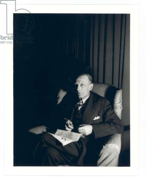 Portrait of Henri Michaux, c.1934 (b/w photo)