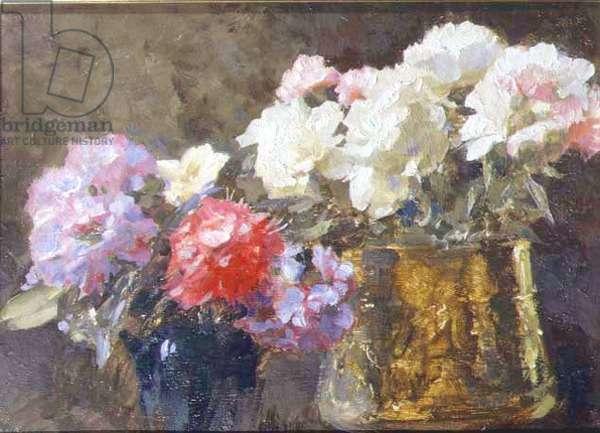 Peonies, 1929 (oil on canvas)