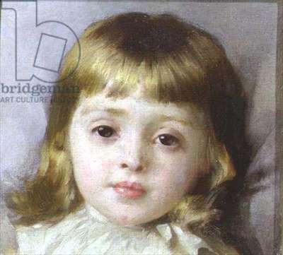 Portrait of Ellen, the artist's youngest daughter, c.1898 (oil on canvas)