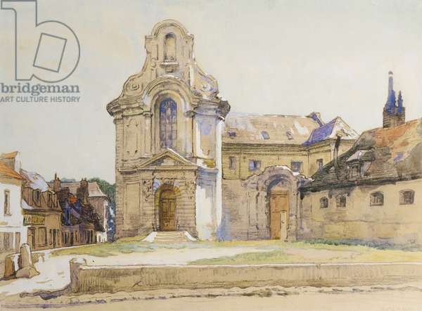Old Spanish Buildings, Montreuil-sur-Mer, 1921 (watercolour on paper)