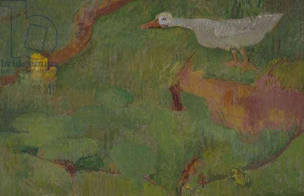A solitary gander, 1988 (oil on canvas)