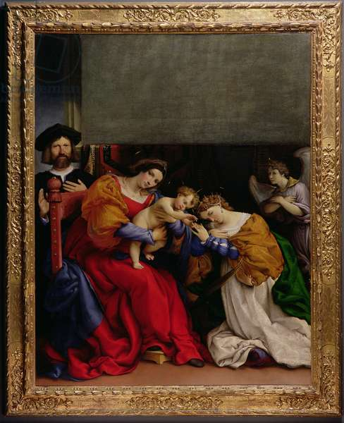 The Mystic Marriage of St. Catherine with the patron Niccolo Bonghi, 1523