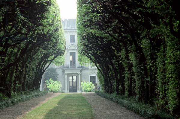 View towards the house down 'Hornbeam Avenue', Villa Rizzardi, Negrar, Veneto, Italy (photo)