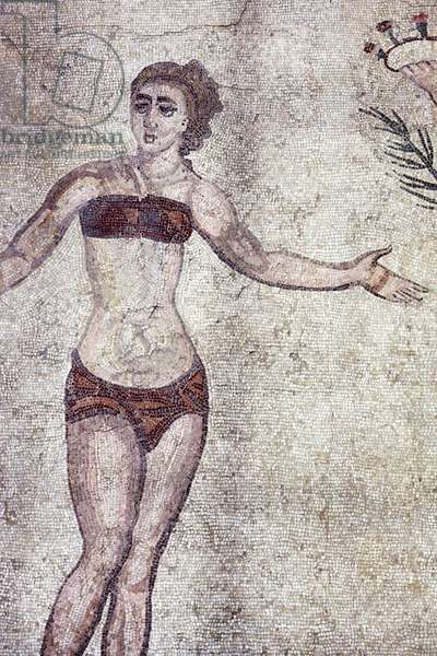 Woman in a 'bikini', from the Room of the Ten Dancing Girls (mosaic)