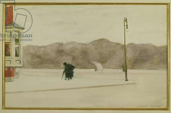 Day After the Funeral, 1925 (w/c on paper)