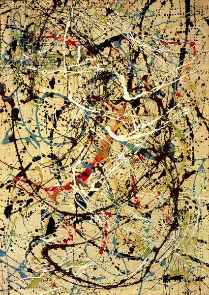 Number 20, 1949 (enamel on paper laid down on masonite)
