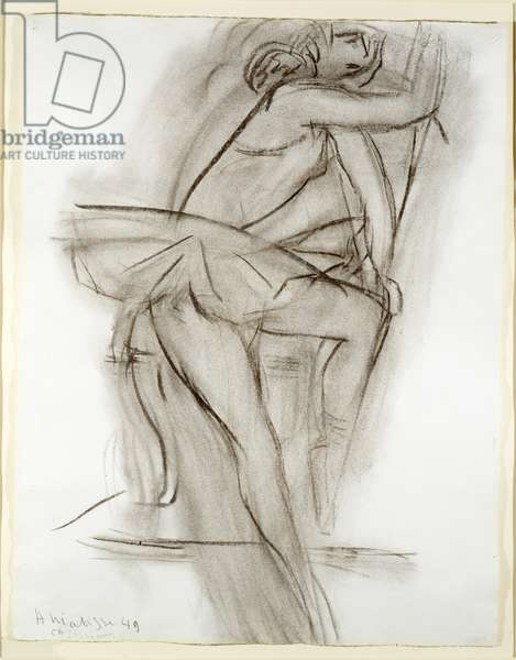 Ballet Dancer, 1949 (charcoal on paper)