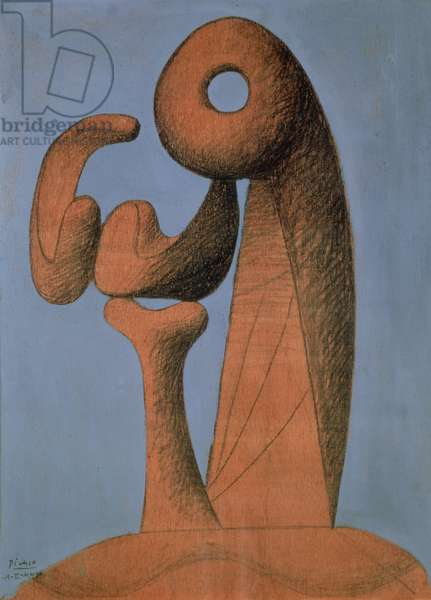 Study for a Monument, 1930 (pencil and oil on panel)