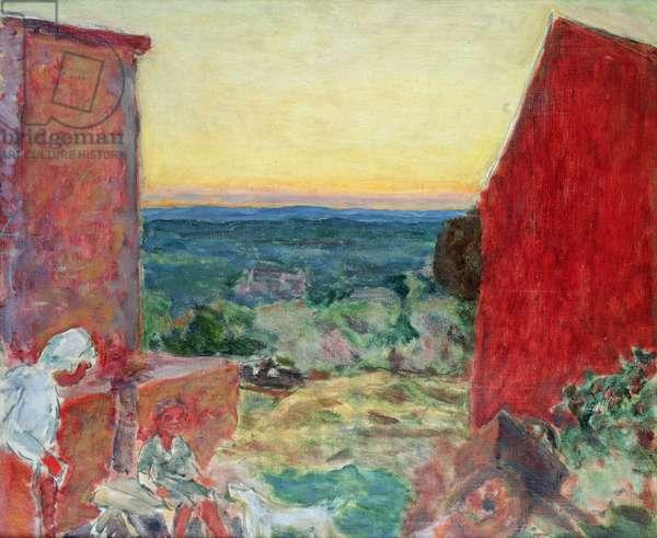 Midi Landscape with Setting Sun, c.1910 (oil on canvas)