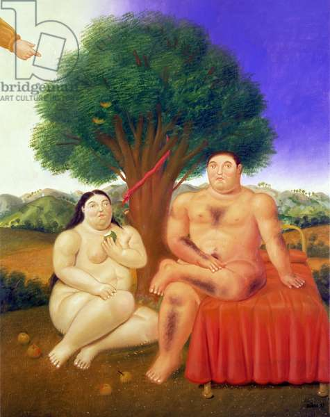 Adam and Eve, 1993 (oil on canvas)