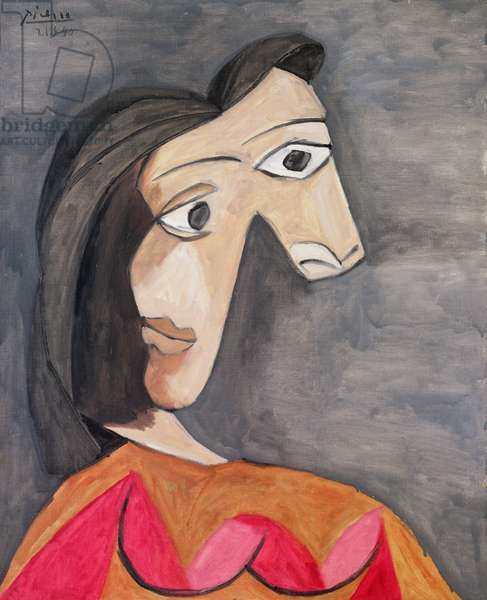 The Orange Blouse (Portrait of Dora Maar) 1940 (oil on canvas)