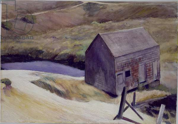 The Lewis Barn, 1931 (w/c on paper)