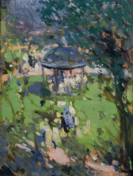 The Bandstand, Princes Street Gardens, 1900 (oil on board)
